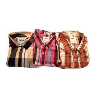 Bundle Of 3 Levi's Button Down Short Sleeve Shirts